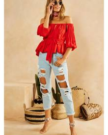 Fortunate One Cairo Crop Top Red