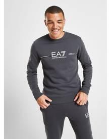Emporio Armani EA7 Central Logo Crew Sweatshirt - Only at JD - Grey/White