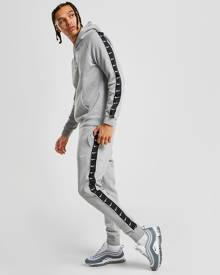 Nike Tape Fleece Overhead Hoodie - Only at JD - Grey/Black - Mens