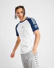 adidas Originals Central Logo Lock Up T-Shirt - White/Blue - Mens