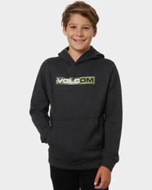 Volcom Boys Round One 3 Pull Over Fleece - Kids Heather Black