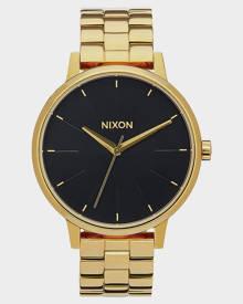 Nixon Mens Kensington Stainless Steel Wrist Watch Quartz Gold Black Sunray