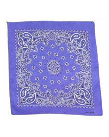 1pce Bandana 54x54cm with Bright Paisley Range with Red Border
