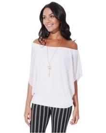 KRISP Womens Oversized Chiffon Mesh Batwing 2 in 1 Necklace Vest Cape Top Blouse Party - White
