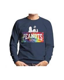 Peanuts Tie Dye Logo Men's Sweatshirt - Navy Blue