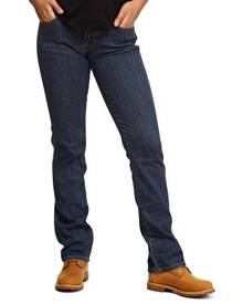 Mustang Women's Mid Rise Straight Jean - Stonewash