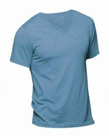 Bella + Canvas Canvas Mens Triblend V-Neck Short Sleeve T-Shirt (Blue Triblend) - BC1333