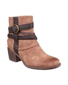 Divaz Womens/Ladies Vado Ankle Boots (Tan) - FS3670