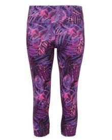Tridri Womens/Ladies Performance Jungle 3/4 Length Leggings (Jungle Purple) - RW6132
