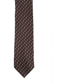 Premier Tie - Mens Zig Zag Work Tie (Brown) - RW1158
