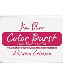Ken Oliver Color Burst Ink Pad-Alizarin Crimson