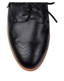 Jo Mercer Vera perforated lace up brogues