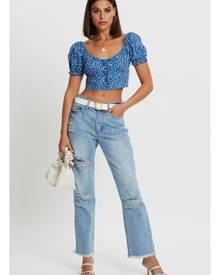 Mid Rise Boyfriend Jeans - Ally Fashion