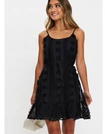 Ally Fashion Textured Chiffon Ruffle Hem Singlet Swing Dress
