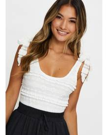 Tie Up Sleeve Lace Jersey Occasion Bodysuit - Ally Fashion