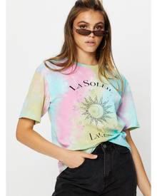 Ally Fashion Short Sleeve Jersey Over-sized Tie Dye Sun T Shirt