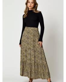 Animal Print Maxi Skirt - Ally Fashion