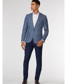 Alburn Check Blazer - Blazer, Navy, Blue, Clothing, All, New Arrivals, Jack London