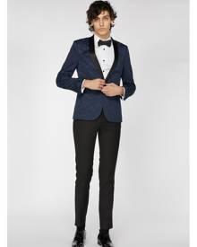 Navy Floral Tuxedo Jacket - Jacket, Navy, Blue, New Arrivals, Jack London