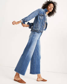 MW Wide-Leg Crop Jeans in Finney Wash