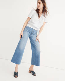 MW Wide-Leg Crop Jeans: Button-Front Edition