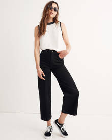 MW Wide-Leg Crop Jeans in Black Frost