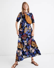 MW Warm Float Maxi Dress in Night Botanical