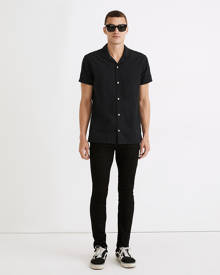 MW Skinny Authentic Flex Jeans in Black Wash