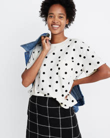 MW Easy Crop Pocket Tee in Cat Person