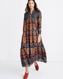 MW Warm Pheasant Tiered Maxi Dress