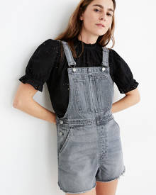 MW Pinyon Short Overalls in Pale Grey