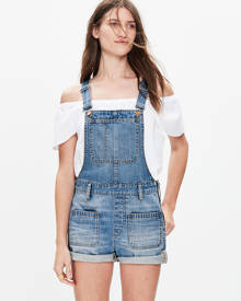 MW Adirondack Short Overalls in Isley Wash