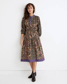 MW Warm Canyon Club Midi Dress in Hunt Club