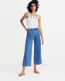 MW Emmett Wide-Leg Crop Jeans in Rosalie Wash