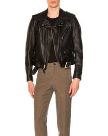 Schott One Star Perfecto Moto Jacket in Black - Black. Size 42 (also in 44).