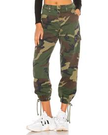 superdown Kayla Camo Jogger Pant in Green. - size 28 (also in 29)