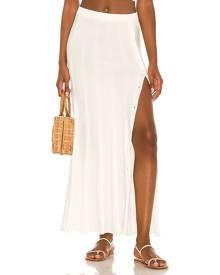 DEVON WINDSOR Aster Skirt in White. - size L (also in M, S, XS)