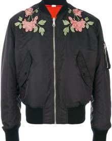 Gucci - reversible embroidered bomber jacket - men - Polyester/Polyamide - 50, 48, 56, 54, 52 - Blue