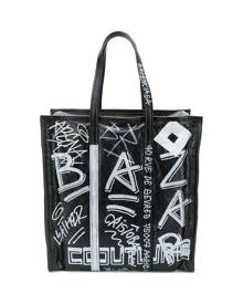 Balenciaga - Bazar graffiti M shopper tote - men - Leather - One Size - Black