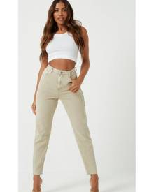 Missguided Sand Co Ord Highwaisted Mom Jeans