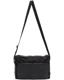 Bottega Veneta Black Intrecciato Packable Messenger Bag