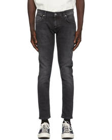Nudie Jeans Black Tight Terry Jeans