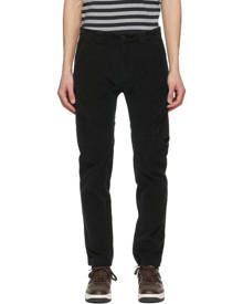 C.P. Company Black Corduroy Lens Pocket Cargo Pants