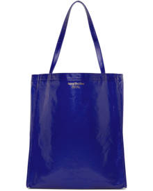 Acne Studios Navy Coated Canvas Tote