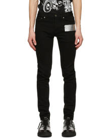 Givenchy Black Latex Band Skinny Jeans
