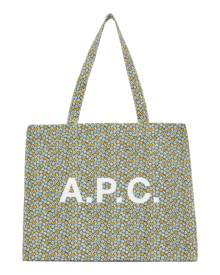 A.P.C. Green Floral Diane Shopping Tote