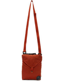 C.P. Company Orange Nylon B Garment-Dyed Crossbody Bag