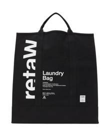 retaW Black Logo Laundry Tote