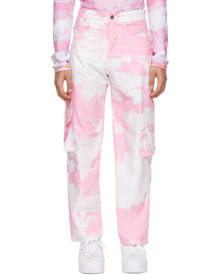 Phlemuns Pink Five-Pocket Panel Cargo Pants
