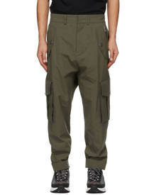 Balmain Khaki Cotton Cargo Pants